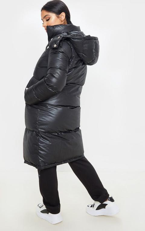 Petite Black Maxi Puffer Coat