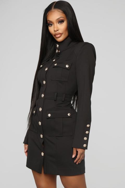 Follow The Rules Midi Dress Black, Fashion Nova Pea Coat