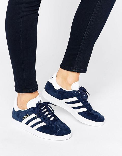 Zapatillas De Deporte De Ante Azul Marino Gazelle De Adidas Originals de ASOS en 21 Buttons