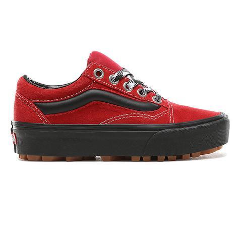 Vans Chaussures 90s Retro Old Skool Lug Platform ((90s Retro) Chili Pepper/black) Femme Rouge from Vans on 21 Buttons