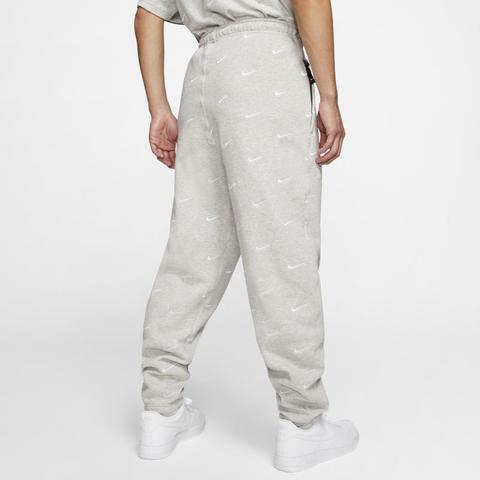 Nike Pantalón Con Logotipo Swoosh - Hombre - Gris