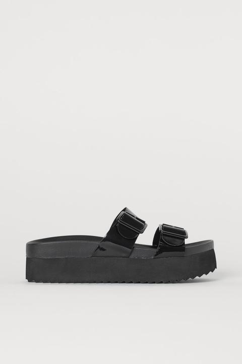 niedriger Preis großer Rabatt neu authentisch Plateau-sandalen - Schwarz - Damen from H&M on 21 Buttons