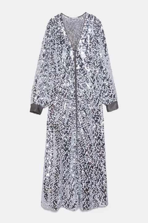 Vestido Lentejuelas de Zara en 21 Buttons