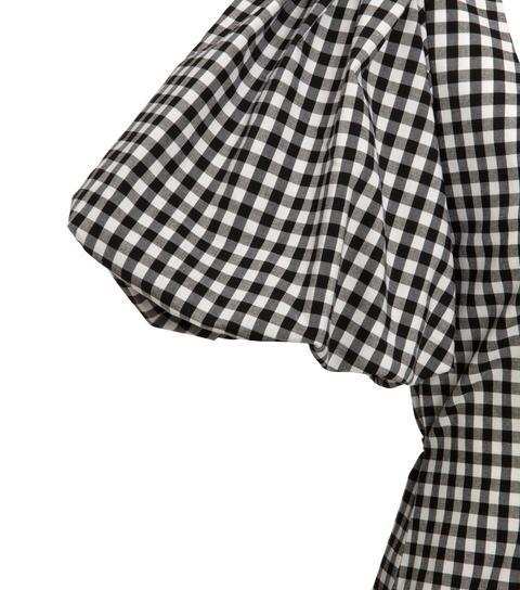 Black Gingham Puff Sleeve Mini Dress New Look