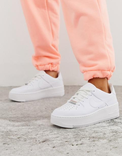 Zapatillas Bajas En Blanco Air Force 1 Sage De Nike