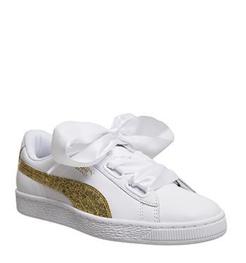 best website faa9b af350 Puma Basket Heart White Gold Glitter from Office on 21 Buttons