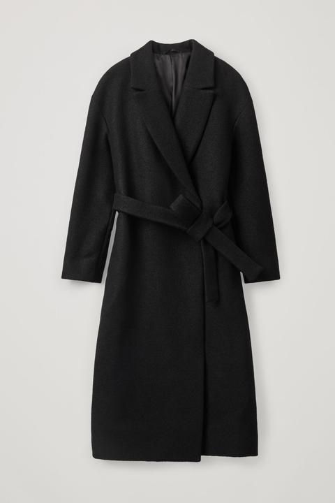 Oversized Belted Wool Coat