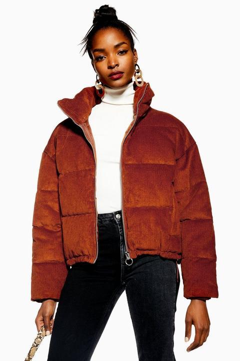 Corduroy Puffer Jacket de Topshop en 21 Buttons