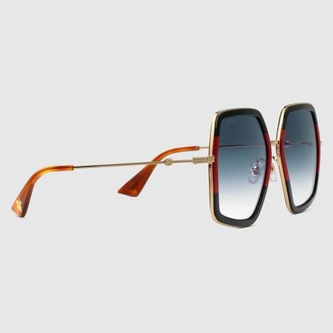 Gafas De Sol Cuadradas Metálicas Extragrandes