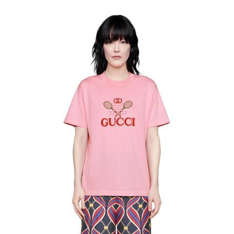 T-shirt Con Ricamo Gucci Tennis from