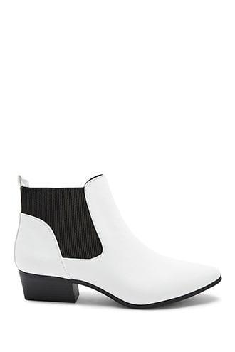 Forever 21 Qupid Chelsea Boots , White