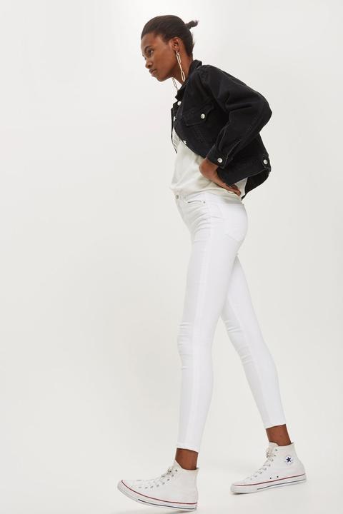 Weiße Moto Jamie Jeans