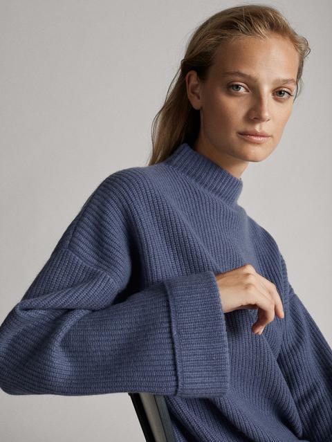 Jersey Capa Premium Punto Perlado Lana Cashmere de Massimo  Dutti en 21 Buttons