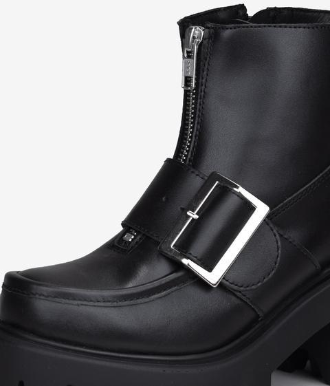 Bosanova - Botín Piel Negra Con Plataforma - Color: Negro