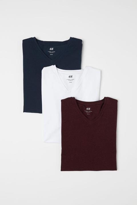 60% barato la mejor moda moda más deseable H & M - Pack De 3 Camisetas Slim Fit - Rojo from H&M on 21 Buttons
