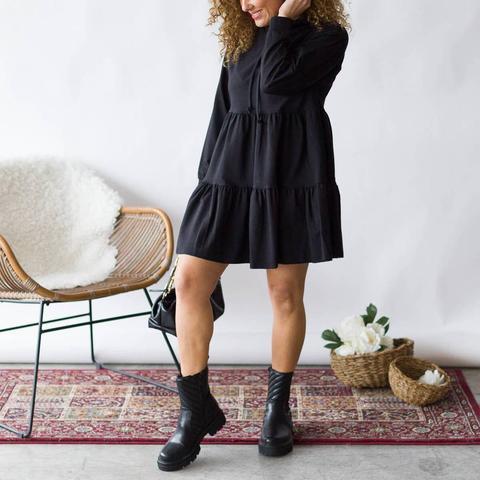 Vestido Corto Gali Negro