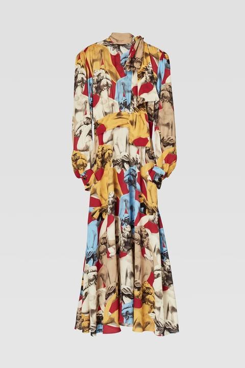 Vestido Estampado de Zara en 21 Buttons