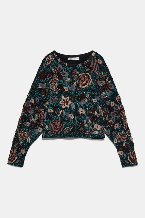 Jersey Bordado Edición Limitada de Zara en 21 Buttons