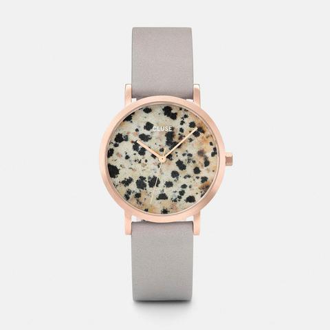 La Roche Petite Rose Gold Dalmatian/grey de Cluse en 21 Buttons