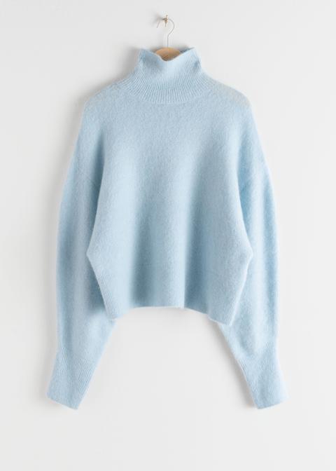 Soft Wool Blend Turtleneck Sweater