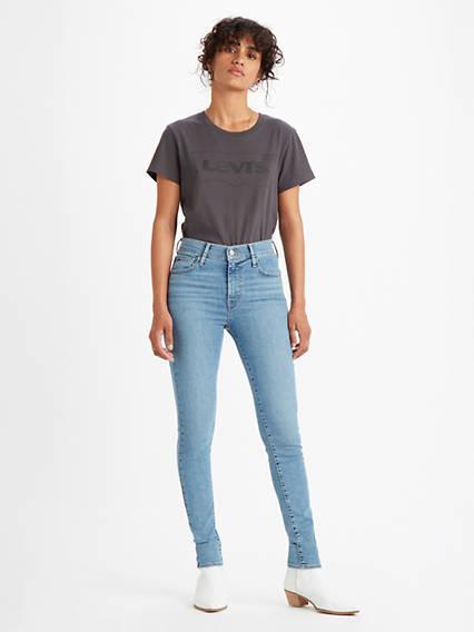 720™ High Rise Super Skinny Jeans Azul / Velocity Squared de Levi's en 21 Buttons