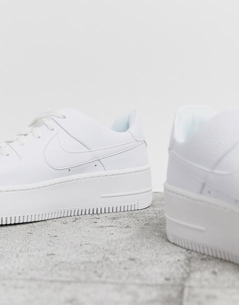 Nike White Air Force 1 Sage Low