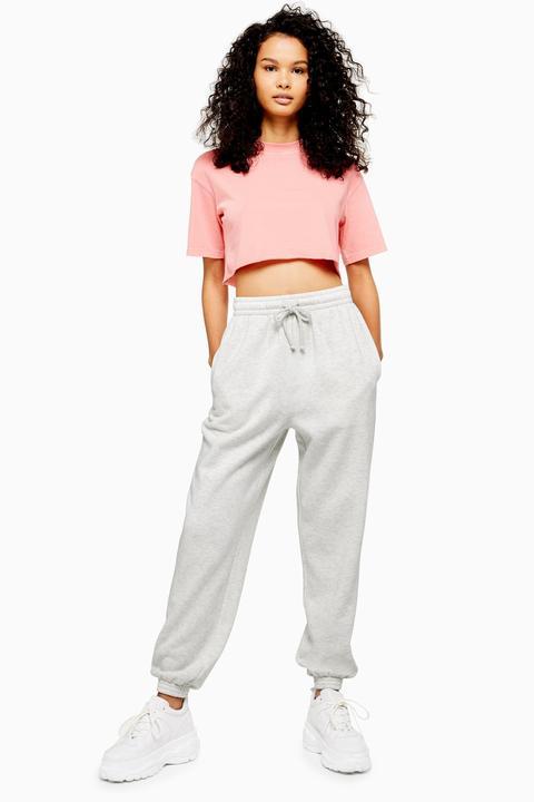 Womens Classic Grey 90's Oversized Joggers - Grey Marl, Grey Marl