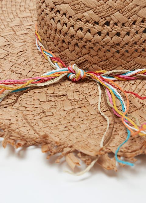 informazioni per beni di consumo autentico Cappello Effetto Paglia A Falda Larga Sfrangiata from OVS on 21 Buttons