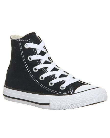 Converse All Star Hi Mid Sizes Black
