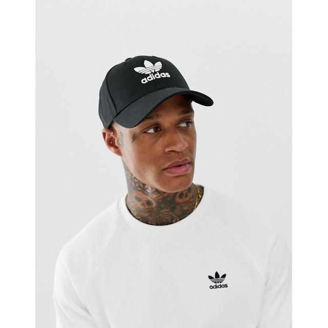 Adidas Originals Trefoil Cap In Black from ASOS on 21 Buttons