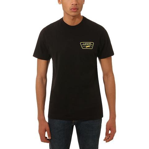 b626d118 Vans Full Patch Back T-shirt (black-sulphur) Men Yellow from Vans on 21  Buttons
