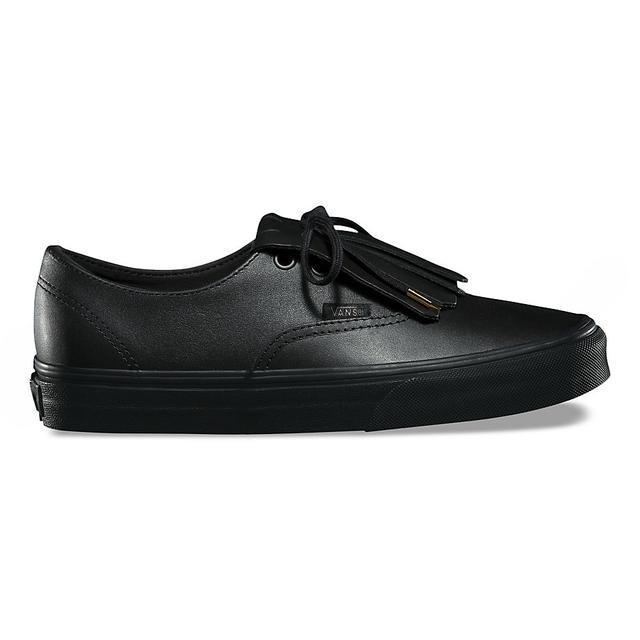 vans noir cuir