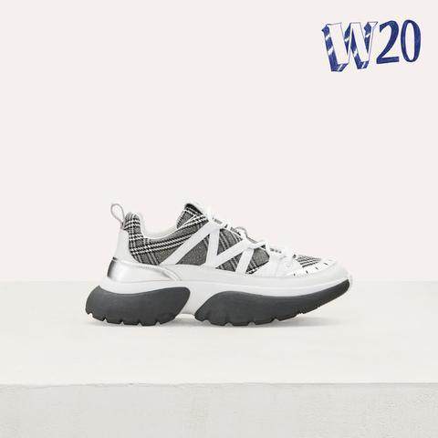 Buttons À sur Maje Sneakers W20 Urbaines Carreaux 21 SMVqUpGz