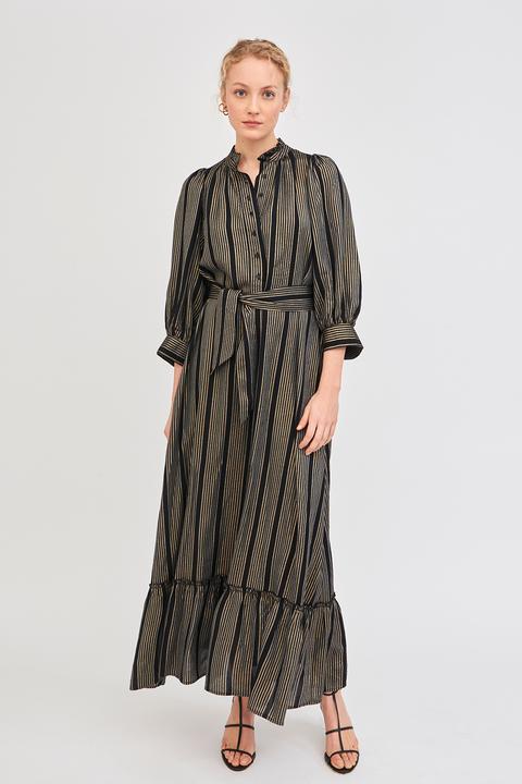 Vestido Largo Victoriano Meeti Rayas - Antik Batik de Antik batik en 21 Buttons