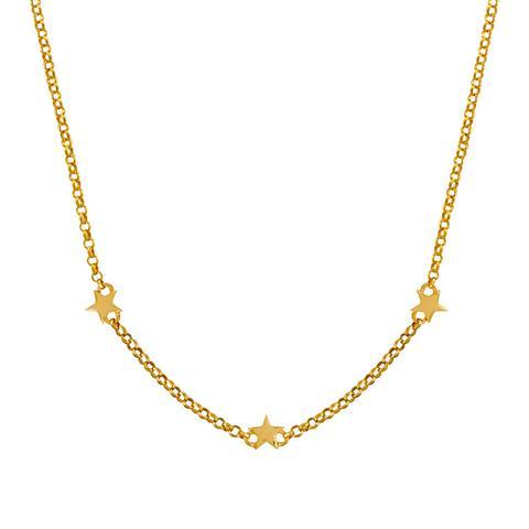 Colgante Estrellas Mini Plata Recubierta Oro de Aristocrazy en 21 Buttons