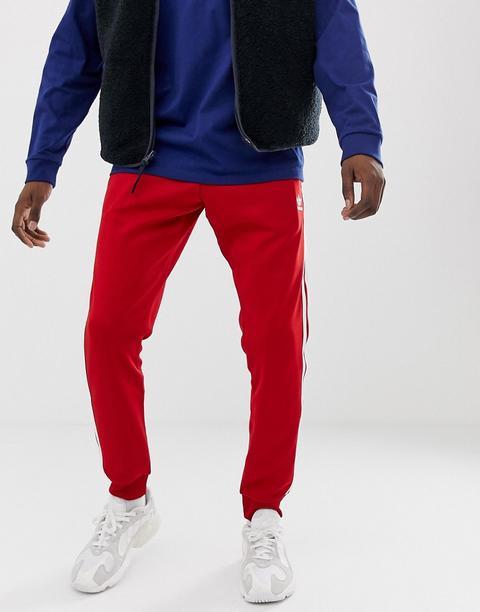 Chevilles Bandes À 21 Jogging Aux Pantalon Asos Dv1534 De Buttons Adidas Resserré On Originals From Ajusté 3 Rouge OZTPukXi