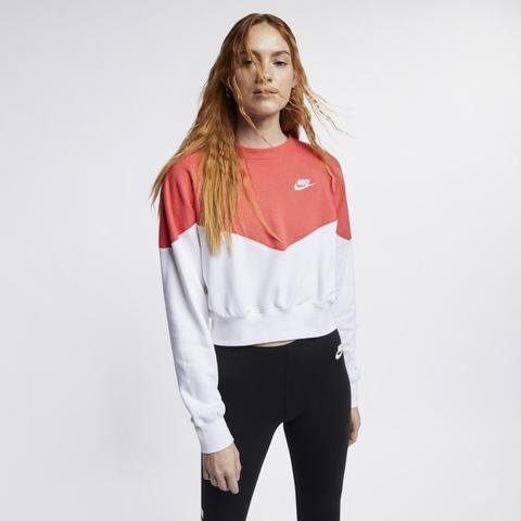 Pensativo activación Derivación  Nike Sportswear Heritage Sudadera De Tejido Fleece - Mujer - Blanco de Nike  en 21 Buttons