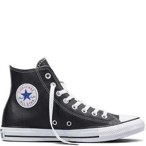 Converse Chuck Taylor All Star Leather Black de Converse en 21 Buttons