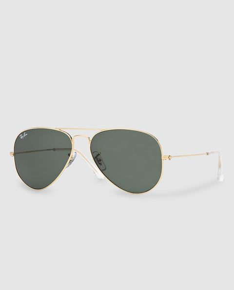 Ray-ban - Gafas De Sol Unisex Aviator Verdes de El Corte Ingles en 21 Buttons