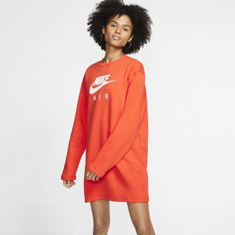 Cabecear Al borde Esquiar  Robe En Tissu Fleece Nike Air Pour Femme - Orange from Nike on 21 Buttons