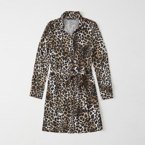 más de moda más tarde encanto de costo Vestido Camisero Con Estampado De Leopardo from Abercrombie & Fitch on 21  Buttons