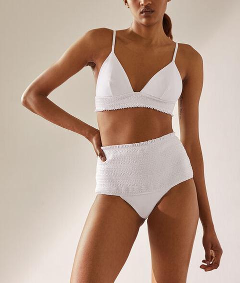 6f9a53edfe0a Sujetador Bikini Triangular Estampado De Rayas - Smile - 42 - Blanco ...