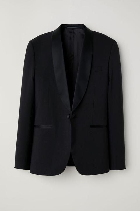 Americana Esmoquin Skinny Fit - Negro de H&M en 21 Buttons