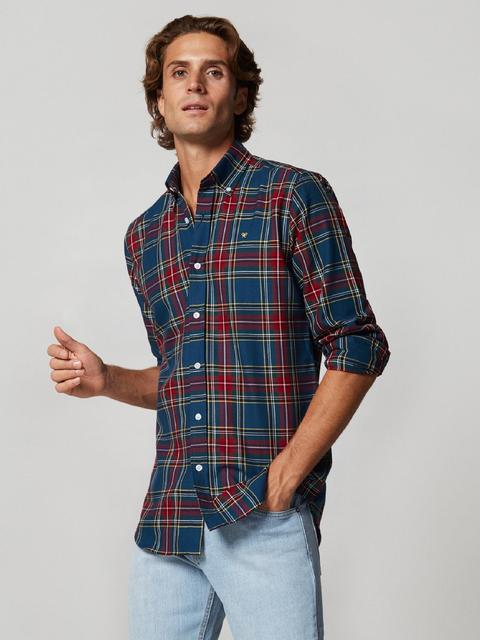 Camisa Sport Tartan Azul