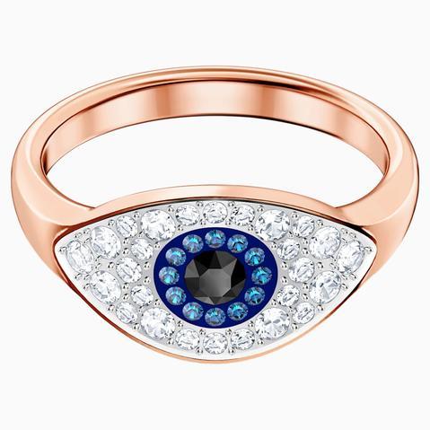 Anillo Swarovski Symbolic Evil Eye, Multicolor, Baño En Tono Oro Rosa de Swarovski en 21 Buttons