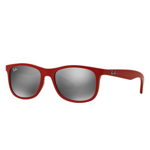 Rj9062s Unisex Sunglasses Lentes: Gris, Montura: Rojo de Ray-Ban en 21 Buttons