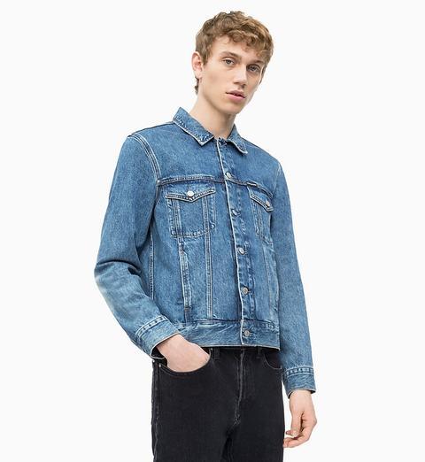 classico Acquista autentico materiale selezionato Giacca Trucker Di Jeans Ricamata from Calvin Klein on 21 Buttons