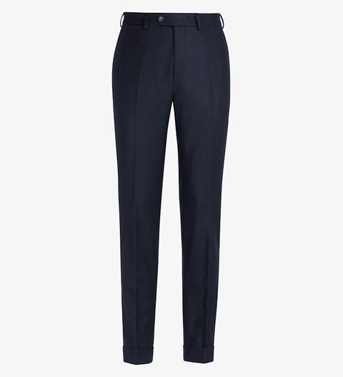 Pantalones Soho Azul Marino Con Dobladillo