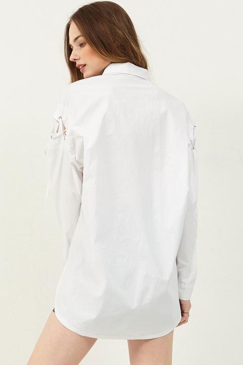 Jin Shoulder Eyelet Shirt