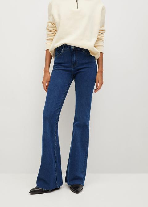 Jeans Flare Tiro Medio
